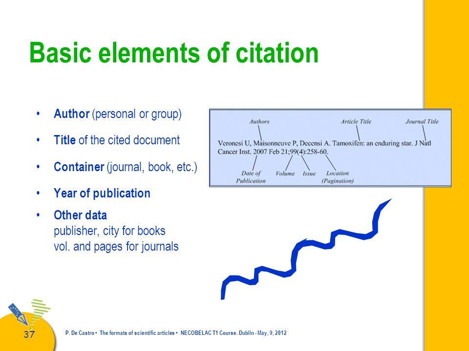 Basic elements of citation