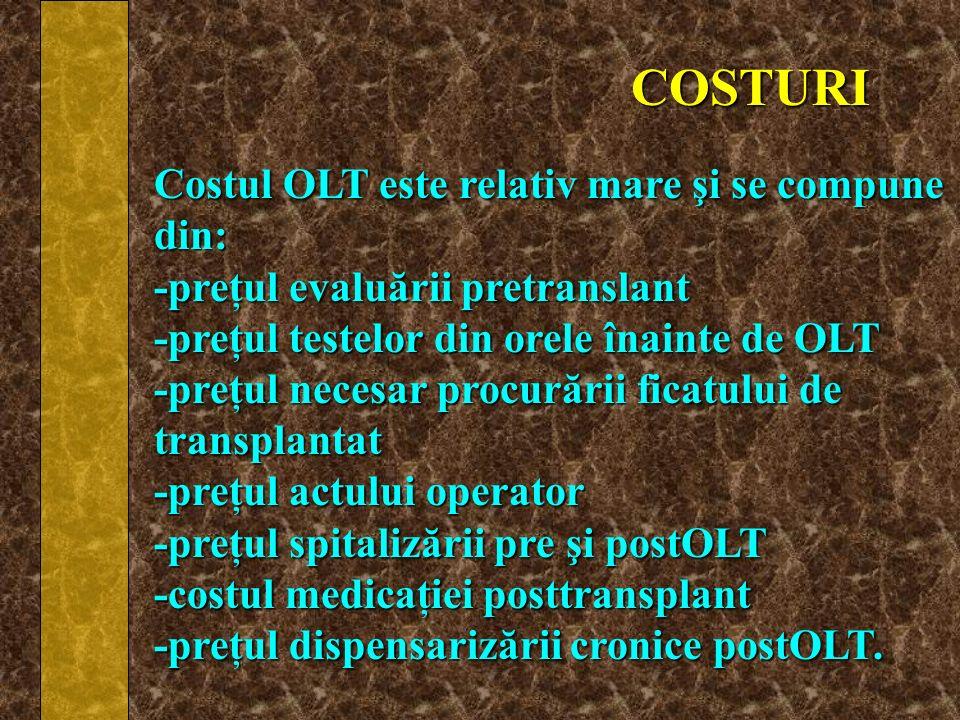 COSTURI Costul OLT este relativ mare şi se compune din: