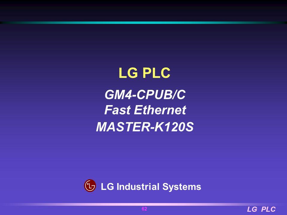 LG PLC GM4-CPUB/C Fast Ethernet MASTER-K120S