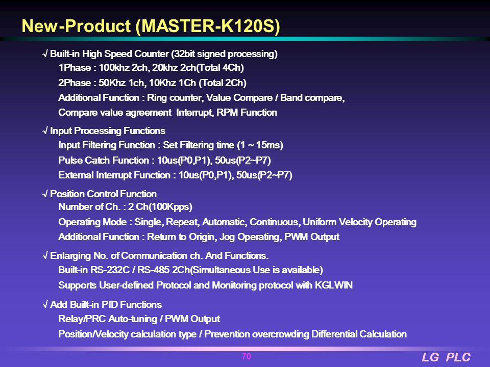 New-Product (MASTER-K120S)