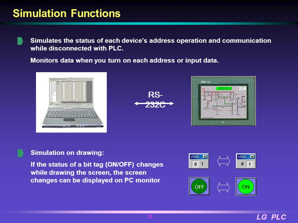 Simulation Functions RS-232C