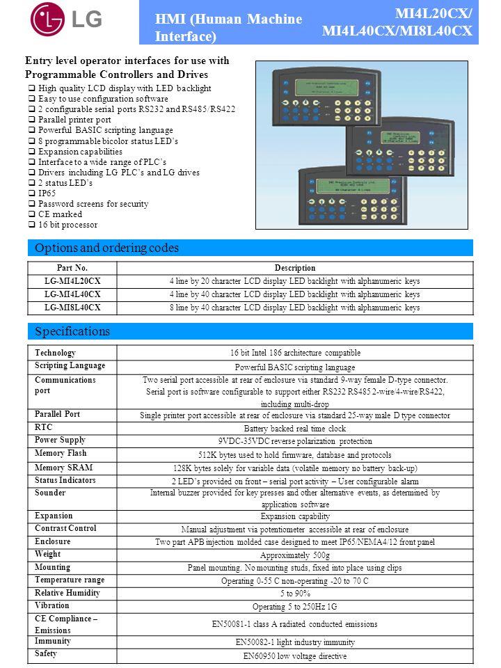LG MI4L20CX/ HMI (Human Machine Interface) MI4L40CX/MI8L40CX
