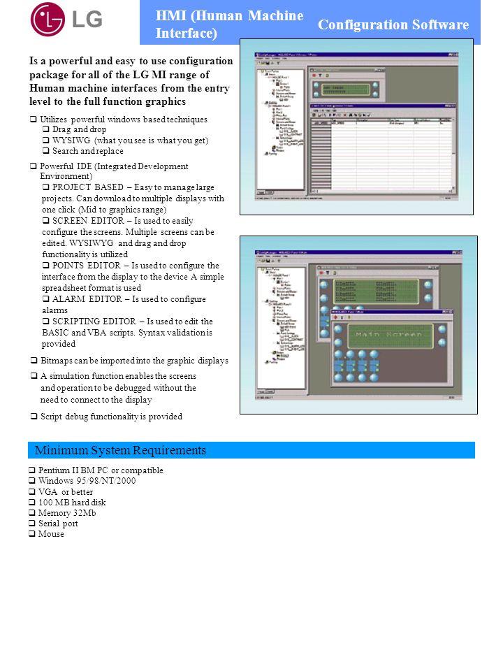 LG HMI (Human Machine Interface) Configuration Software