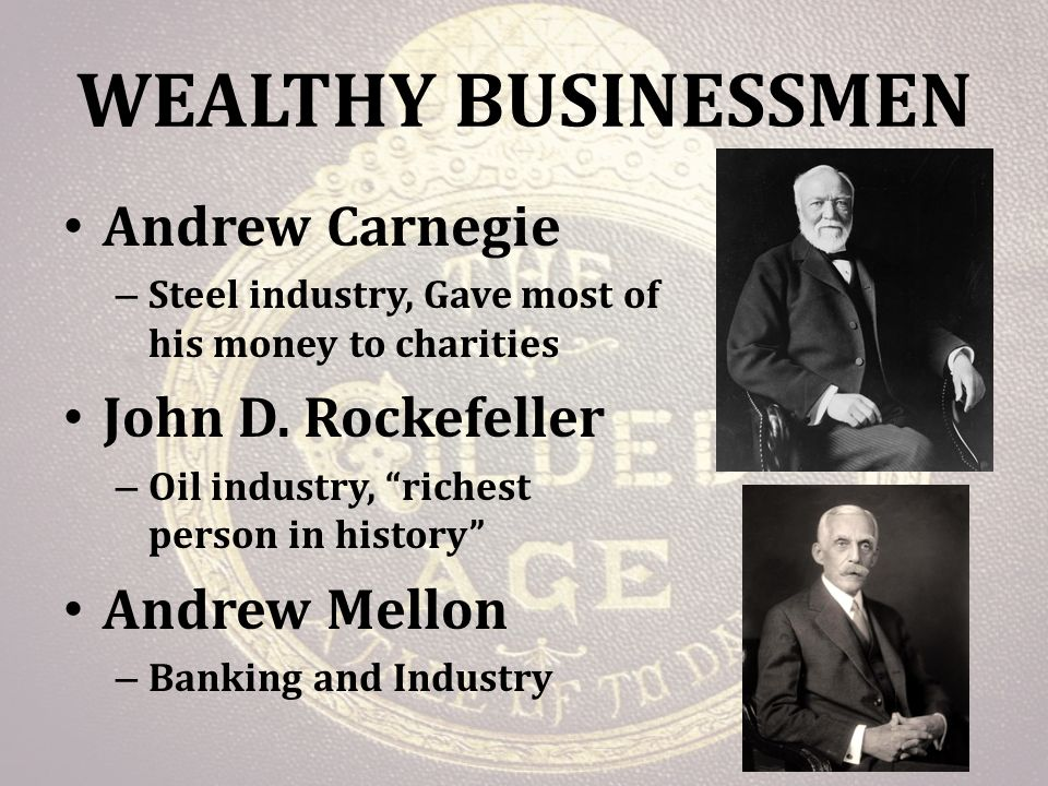 captains of industry andrew carnegie and john d rockefeller Robber barons or captains of industry document based activity were andrew carnegie, john d rockefeller, and jp morgan- captains of industry or robber.