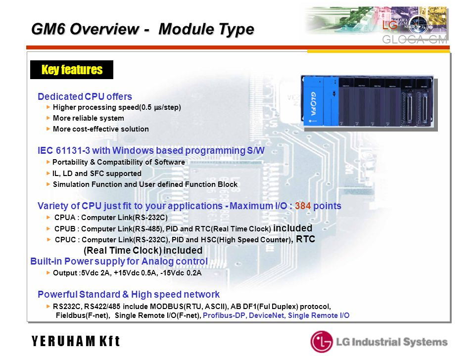 GM6 Overview - Module Type