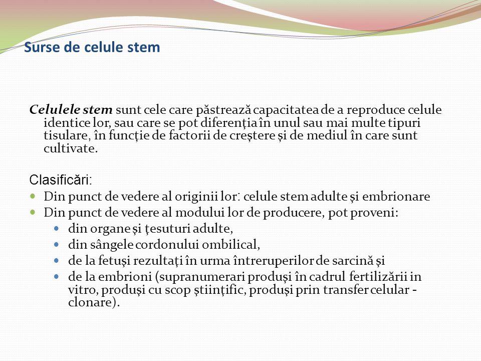 Surse de celule stem