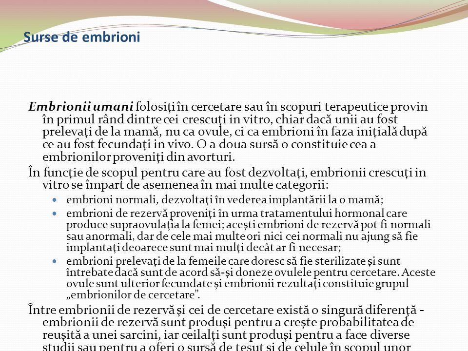 Surse de embrioni