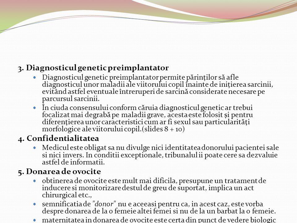 3. Diagnosticul genetic preimplantator