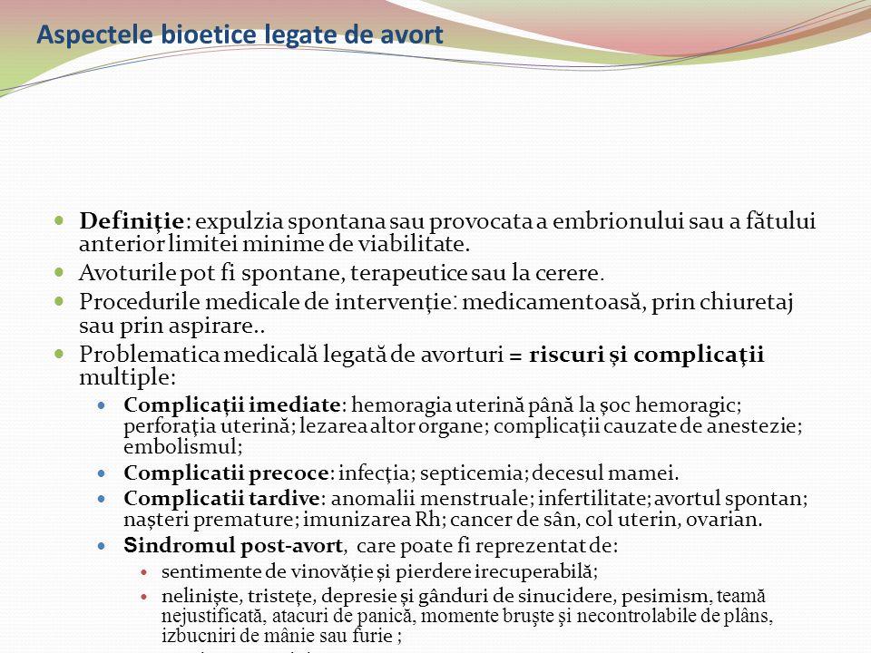 Aspectele bioetice legate de avort
