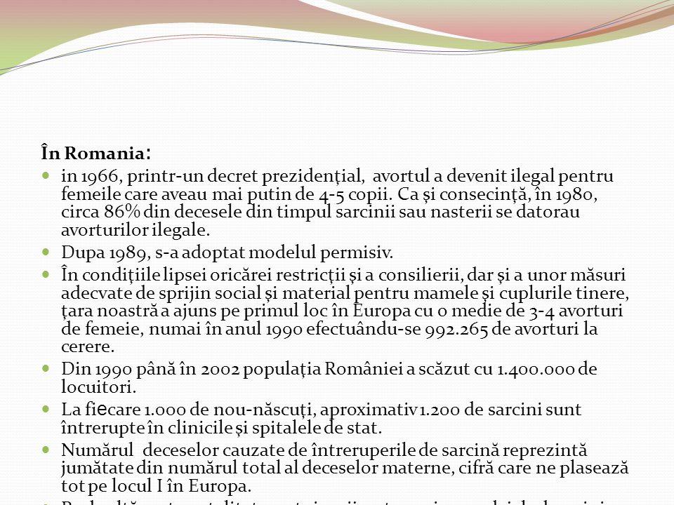 Dupa 1989, s-a adoptat modelul permisiv.
