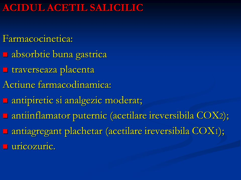ACIDUL ACETIL SALICILIC