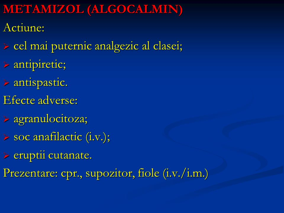 METAMIZOL (ALGOCALMIN)