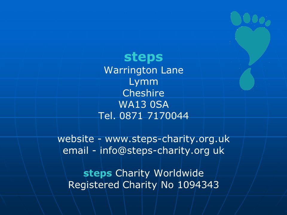 steps Warrington Lane Lymm Cheshire WA13 0SA Tel. 0871 7170044