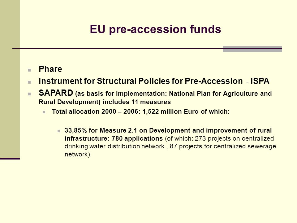 EU pre-accession funds