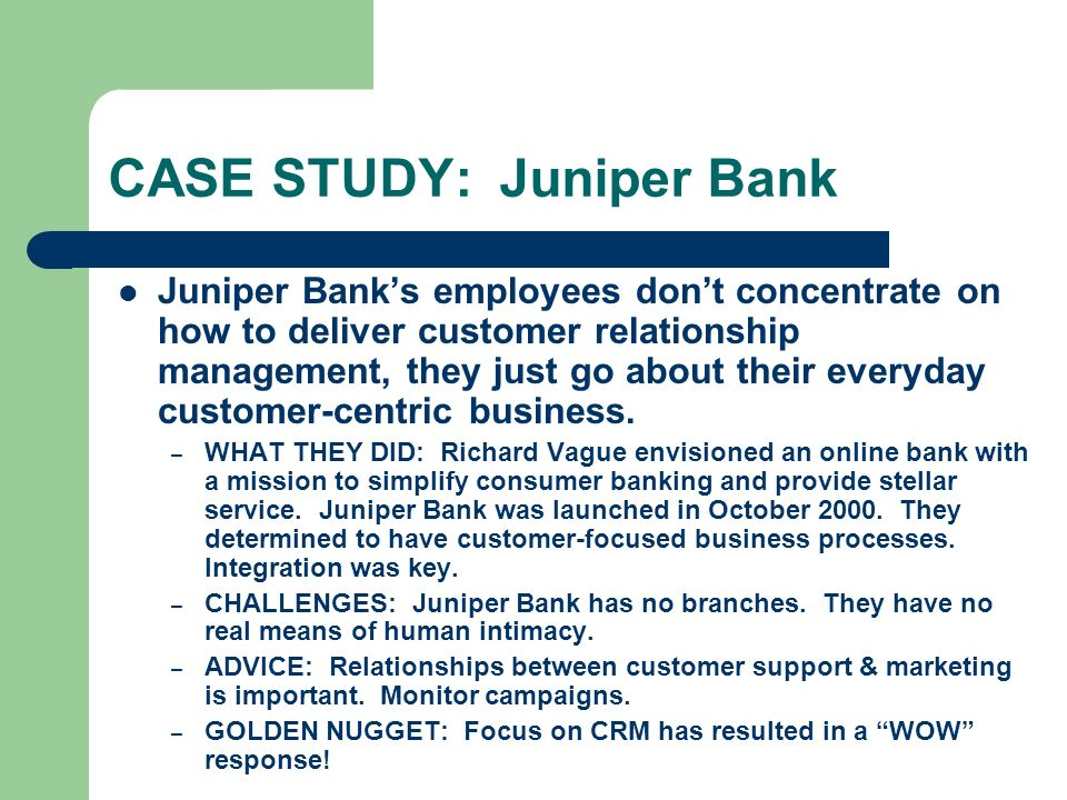 Case study on merchant banking