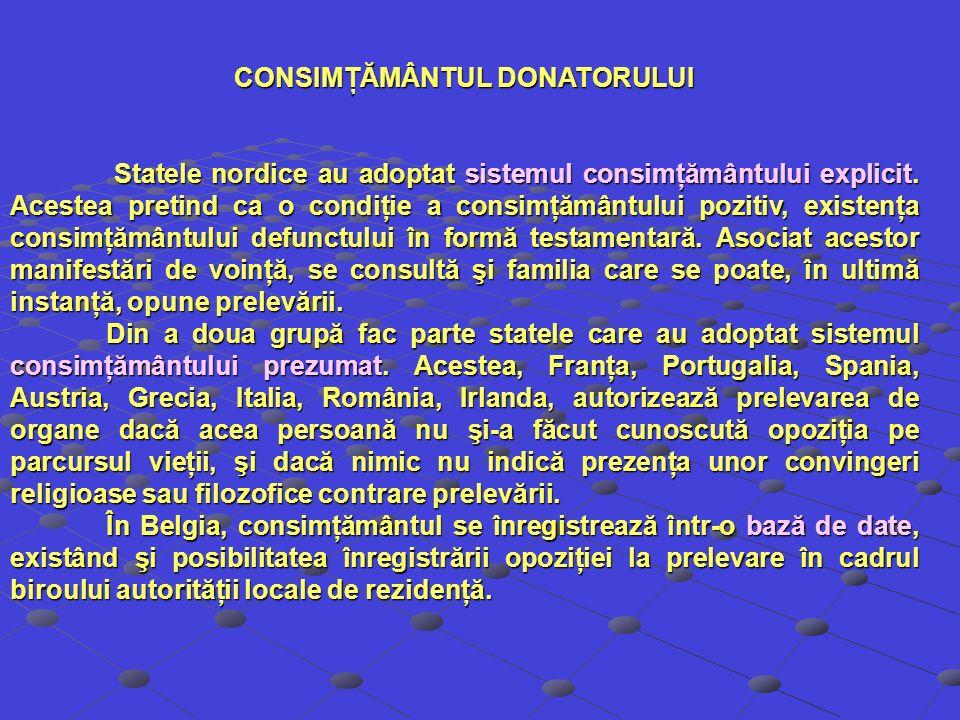 CONSIMŢĂMÂNTUL DONATORULUI