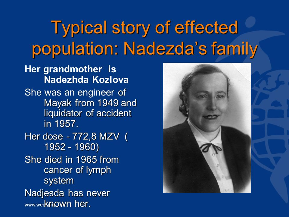 Typical story of effected population: Nadezda's family