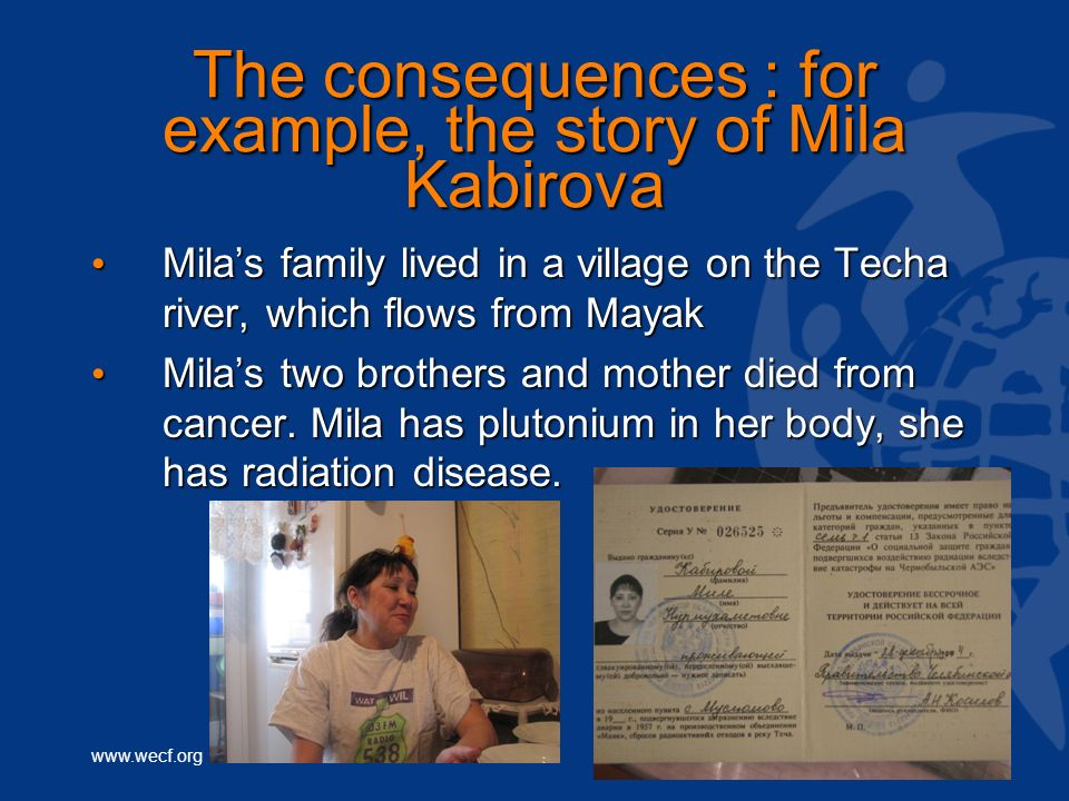 The consequences : for example, the story of Mila Kabirova