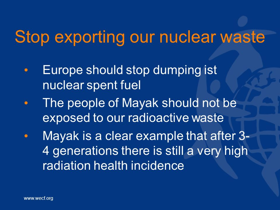 Stop exporting our nuclear waste