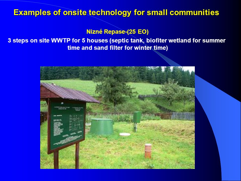 Examples of onsite technology for small communities