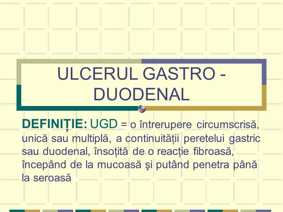 ULCERUL GASTRO -DUODENAL