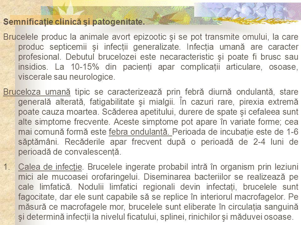 Semnificaţie clinică şi patogenitate.