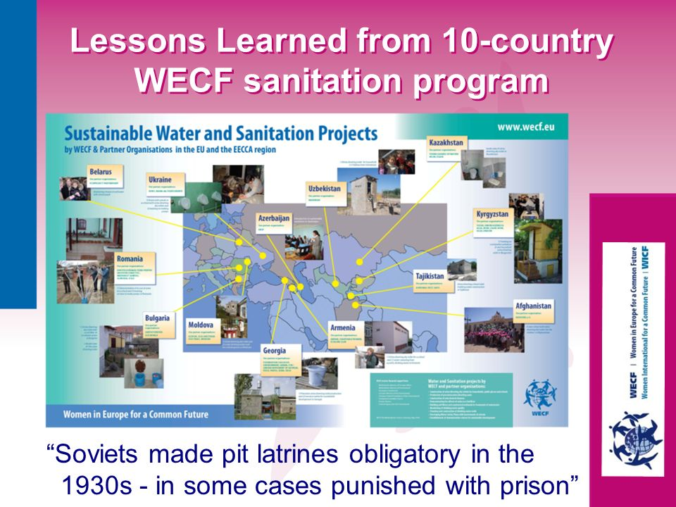 Lessons Learned from 10-country WECF sanitation program
