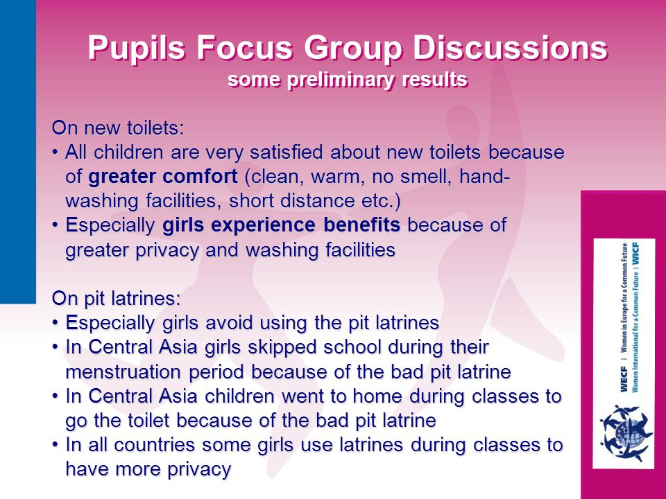 Pupils Focus Group Discussions some preliminary results