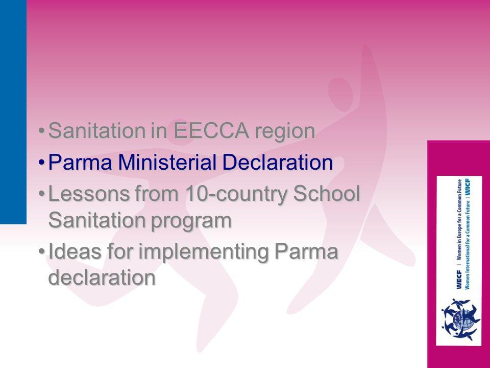 Sanitation in EECCA region Parma Ministerial Declaration