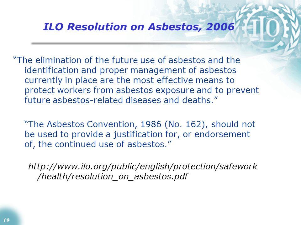 ILO Resolution on Asbestos, 2006