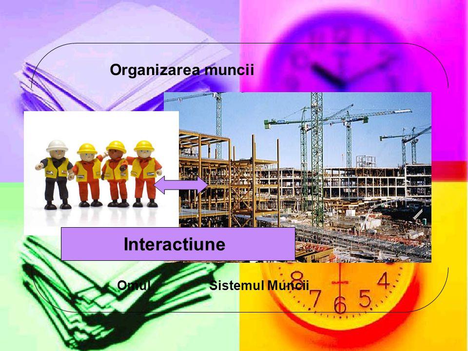 Organizarea muncii Interactiune Omul Sistemul Muncii