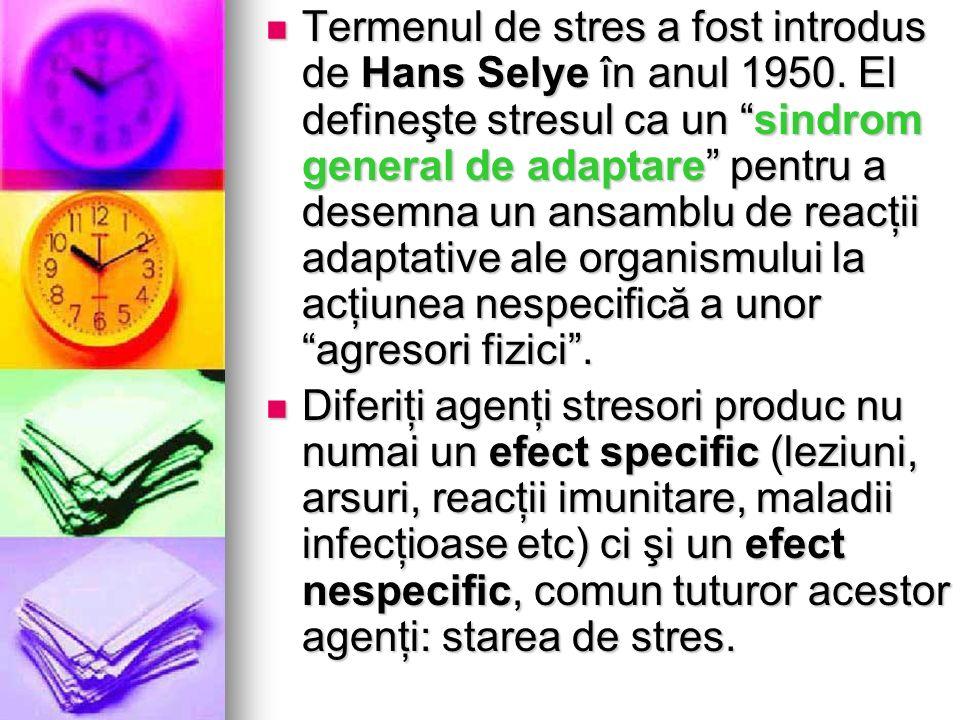 Termenul de stres a fost introdus de Hans Selye în anul 1950