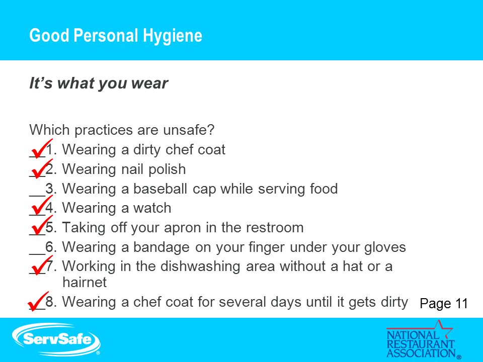 explain how to maximise hygiene when handling food