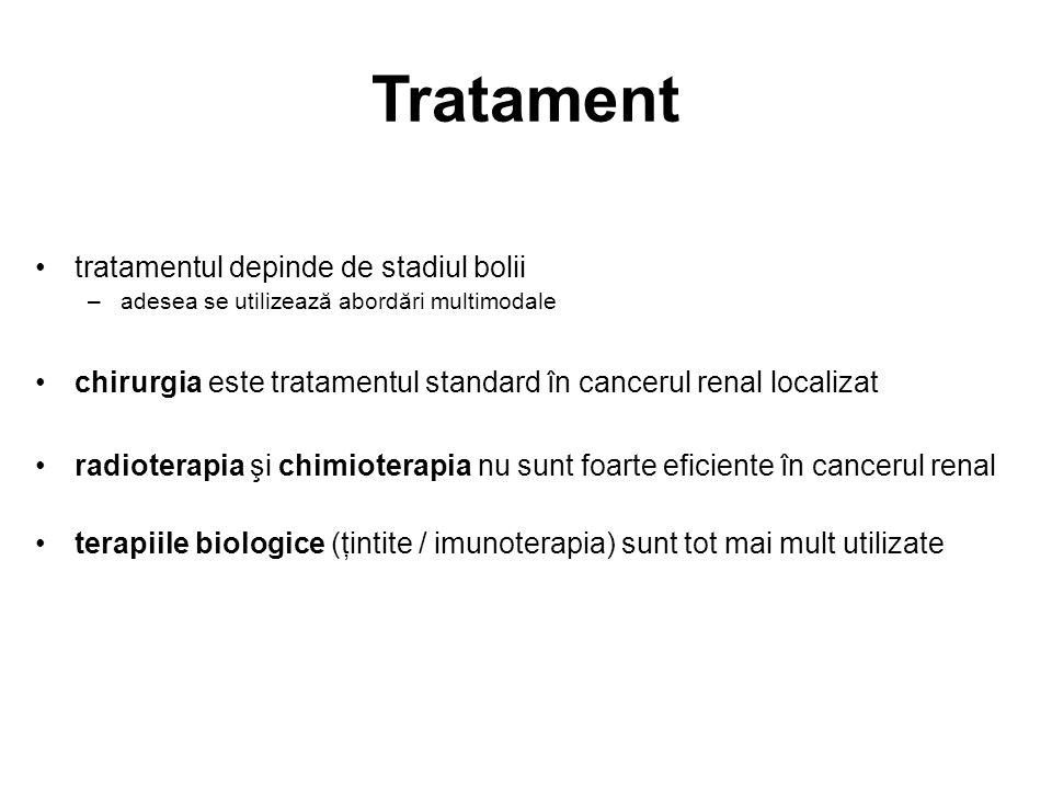 Tratament tratamentul depinde de stadiul bolii