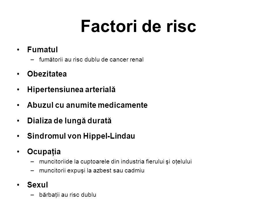 Factori de risc Fumatul Obezitatea Hipertensiunea arterială
