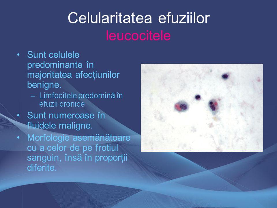 Celularitatea efuziilor leucocitele