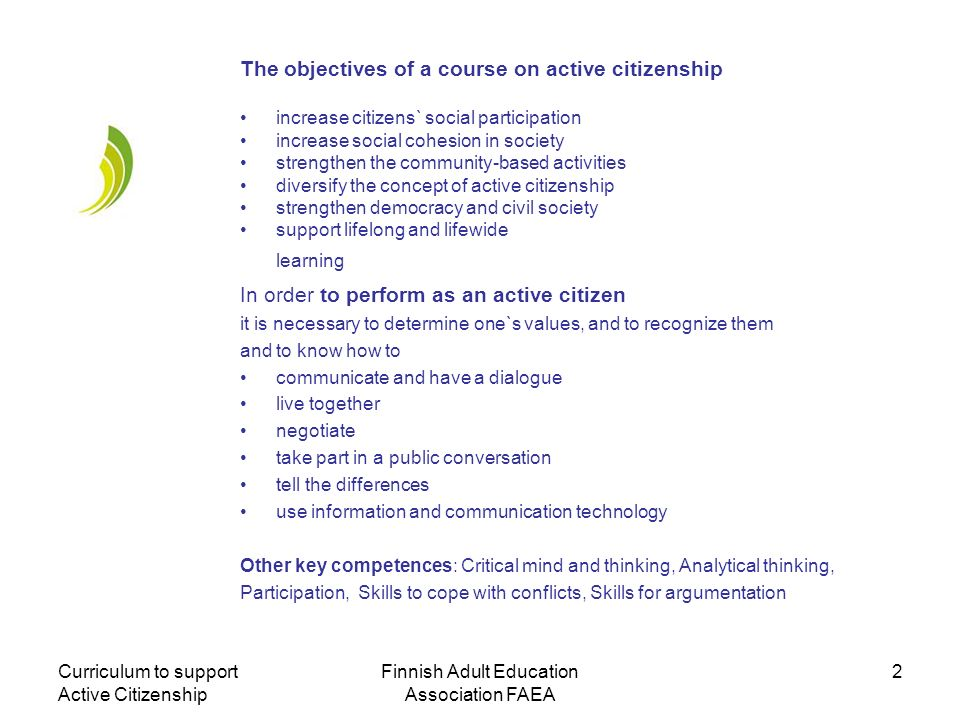 Finnish Adult Education Association FAEA