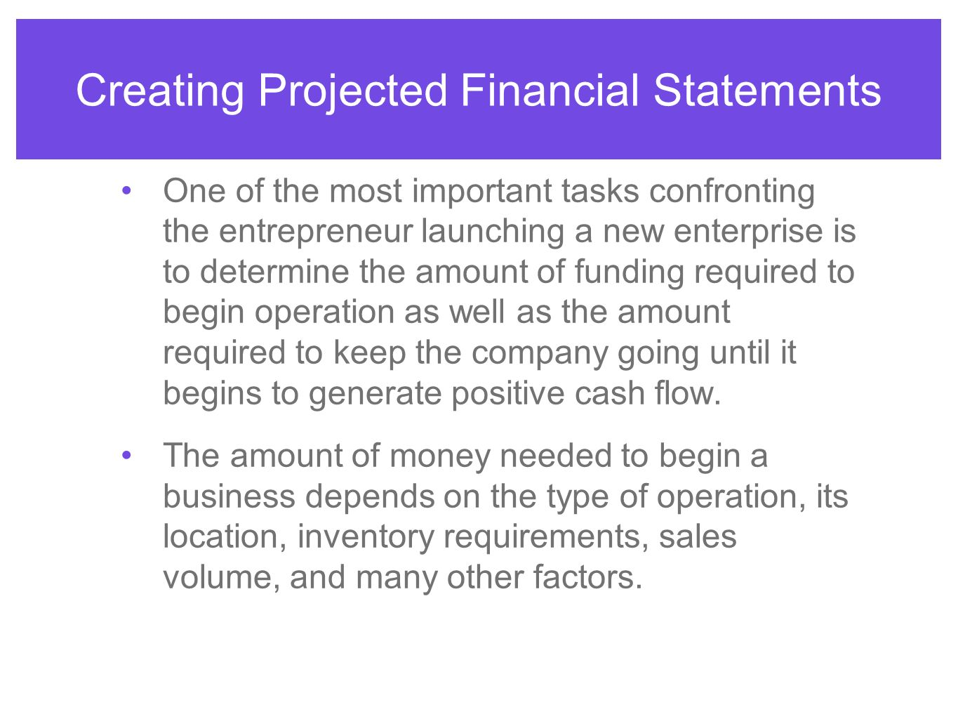 projected financial statements Business plan financial projections your financial backers are interested in their investment to them, the heart of your business plan is represented by the financial projections which must include income statements, balance sheets, and cash flow statements.