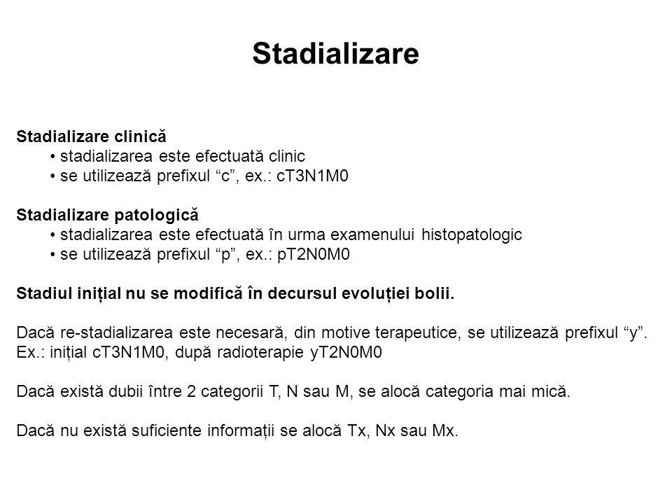 Stadializare Stadializare clinică stadializarea este efectuată clinic