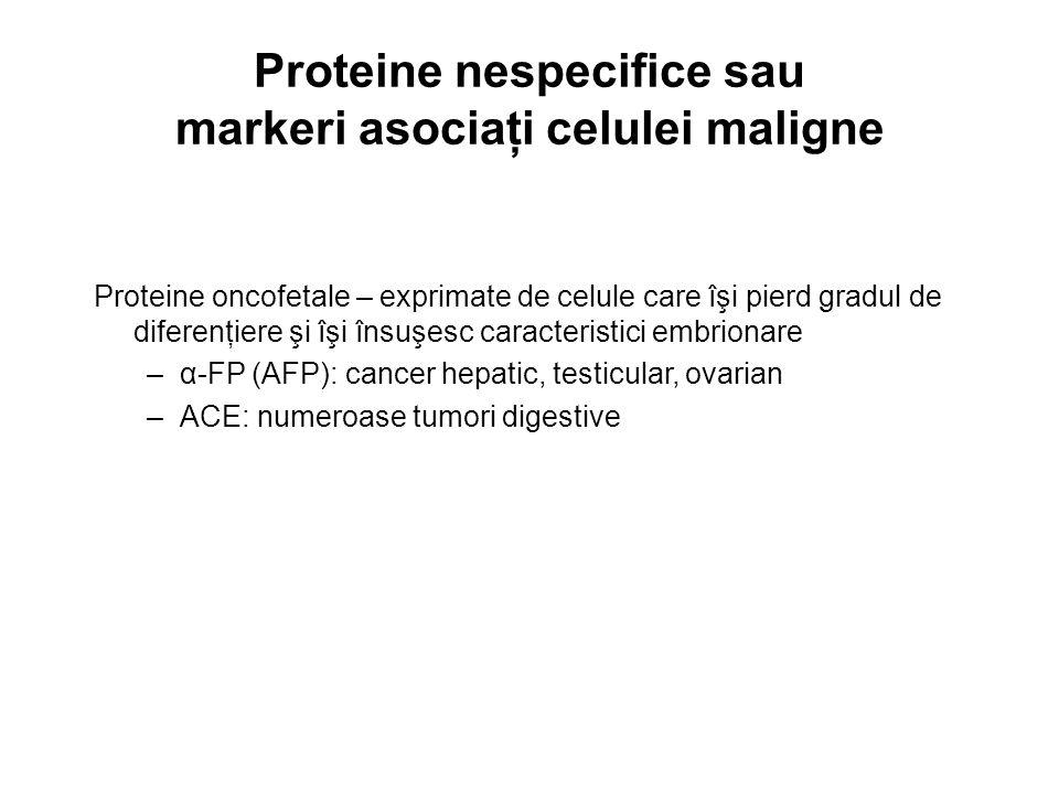 Proteine nespecifice sau markeri asociaţi celulei maligne