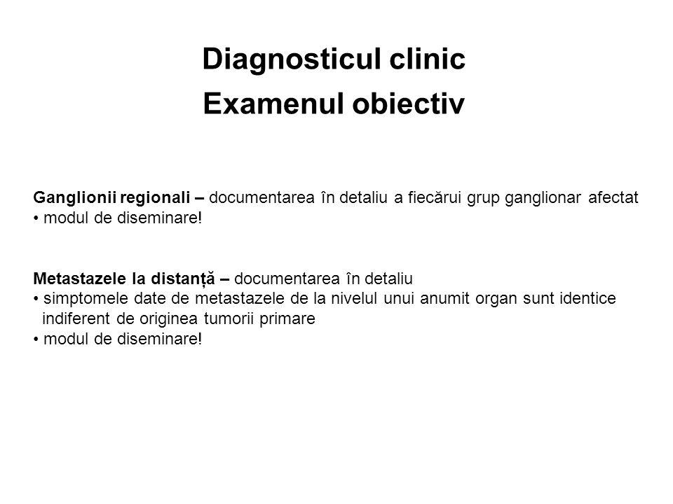 Diagnosticul clinic Examenul obiectiv