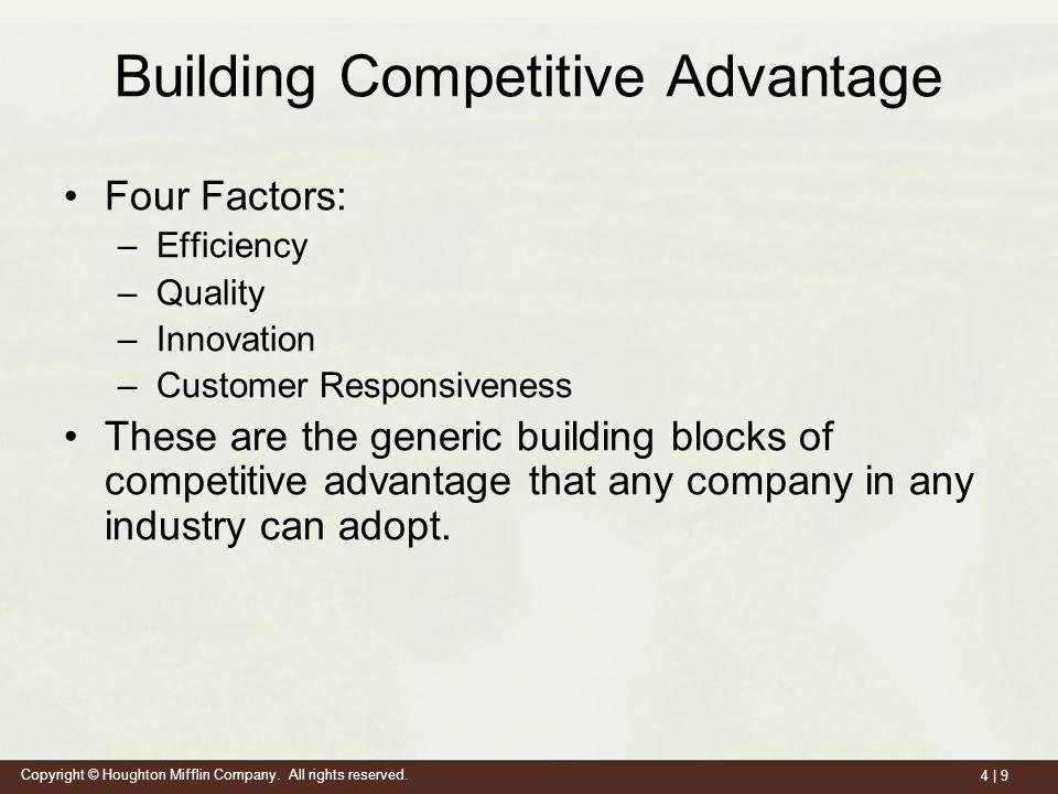 Building competitive advantage ppt video online download for Builders advantage