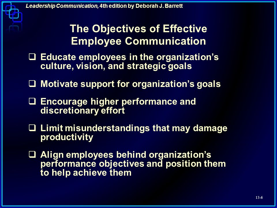 effective communication and employee performance Employee communication is essential to employee trust, engagement and  performance learn how to develop an effective internal.