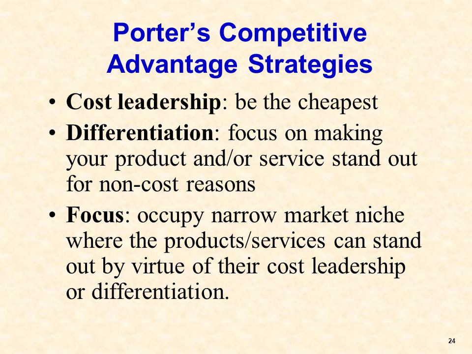 Fundamental it strategies for competitive advantage
