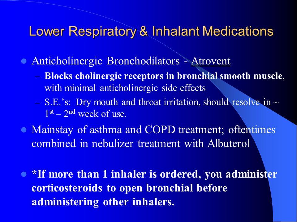 Atrovent Inhaler Side Effects