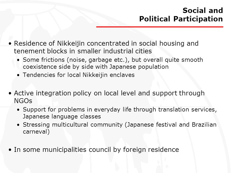 Social and Political Participation