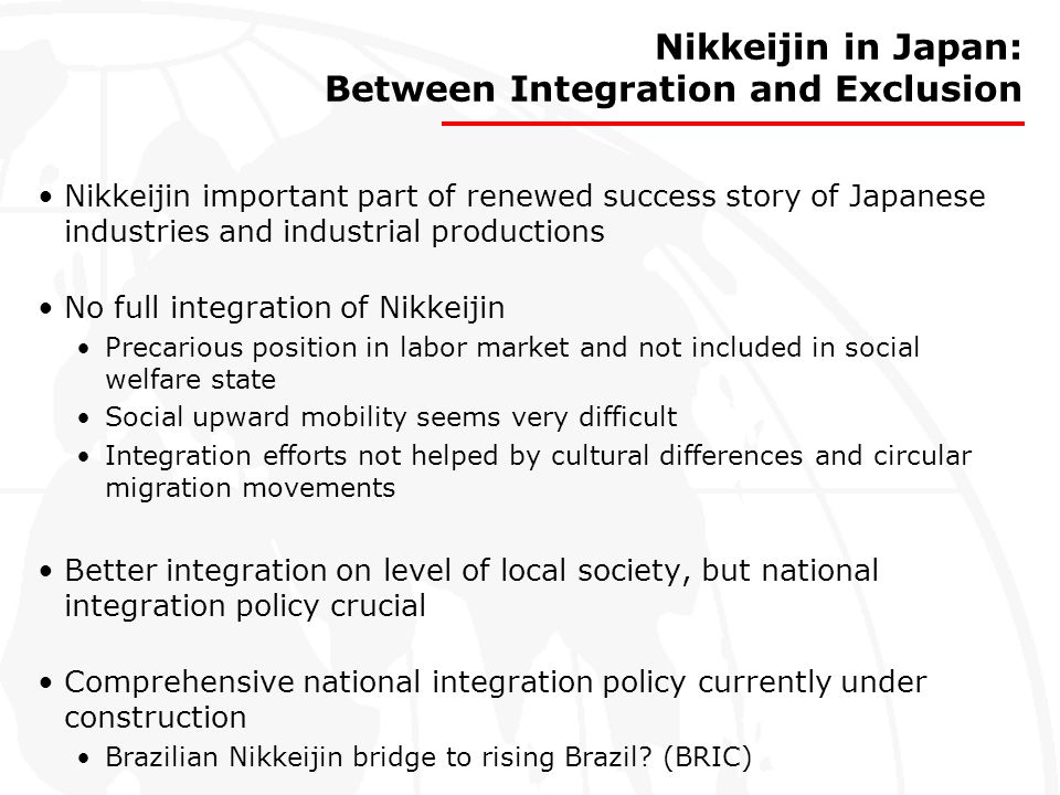 Nikkeijin in Japan: Between Integration and Exclusion