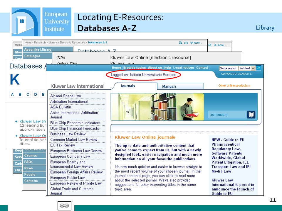 Locating E-Resources: Databases A-Z