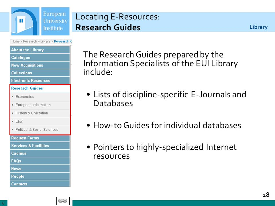 Locating E-Resources: Research Guides