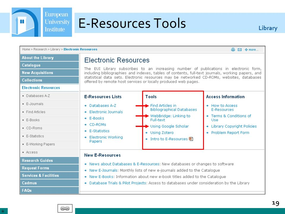 28/03/2017 E-Resources Tools. Find Articles: List of core bibliographic citation databases of particular interest to EUI members.